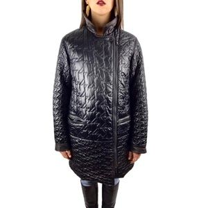 MARC by MARC JACOBS black shiny quilted jacket